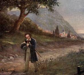 田園を散策し、楽想を練るベートーヴェン